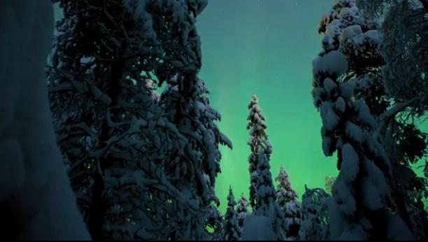 Polární záře ve Finsku