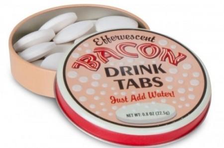 Šumivé tablety se slaninovou příchutí