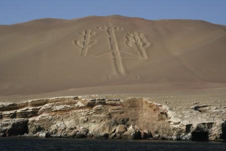 Geoglyf trojzubec Paracas