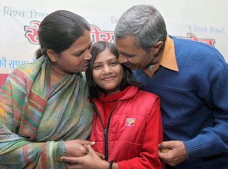 Sushma Verma s rodiči