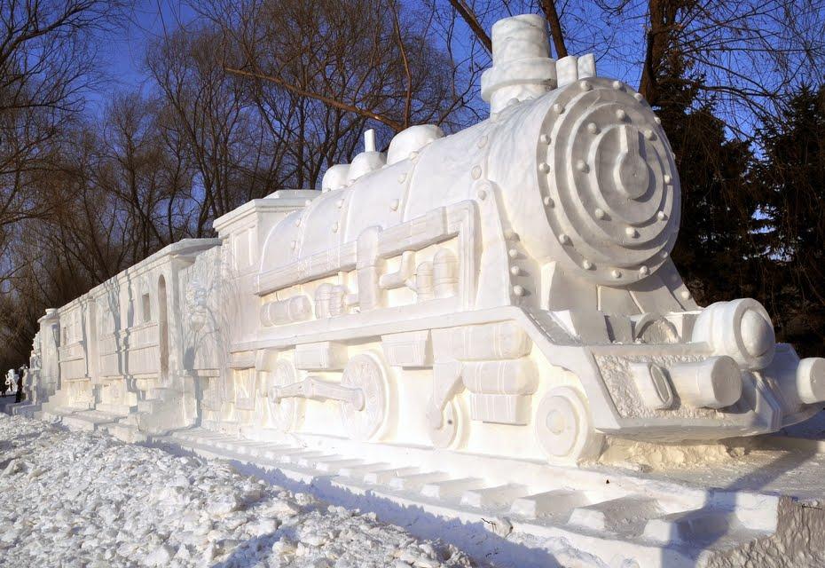 Sněhová socha | Zdroj: viralread